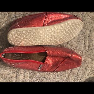 Tom sparkle flats size 10 women